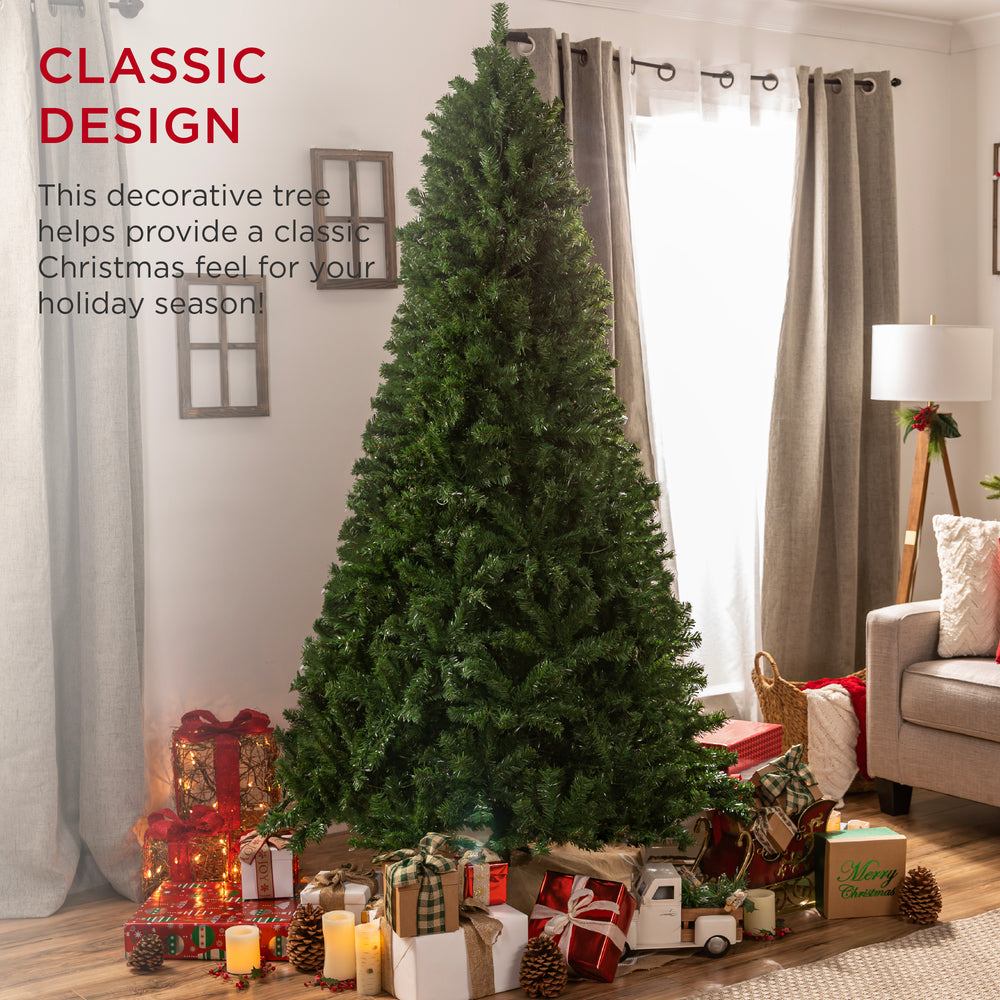 Spruce Hinged Artificial Christmas Tree w/ Stand