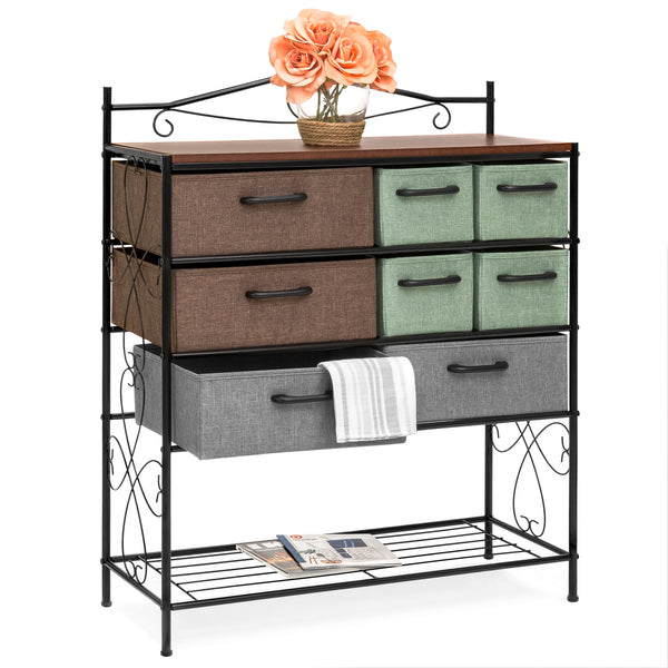 8-Drawer Metal Storage Chest - Multicolor