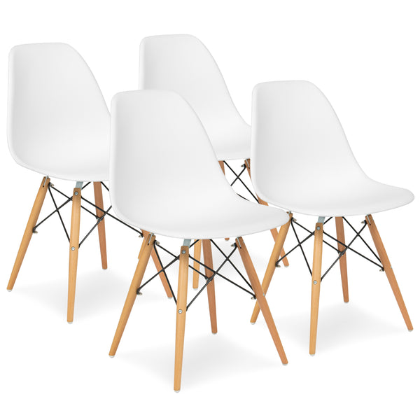 Set of 4 Eames Dining Chairs - White