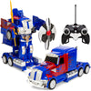 27MHz Transforming Semi-Truck Robot RC Toy w/ Dance Modes, Music