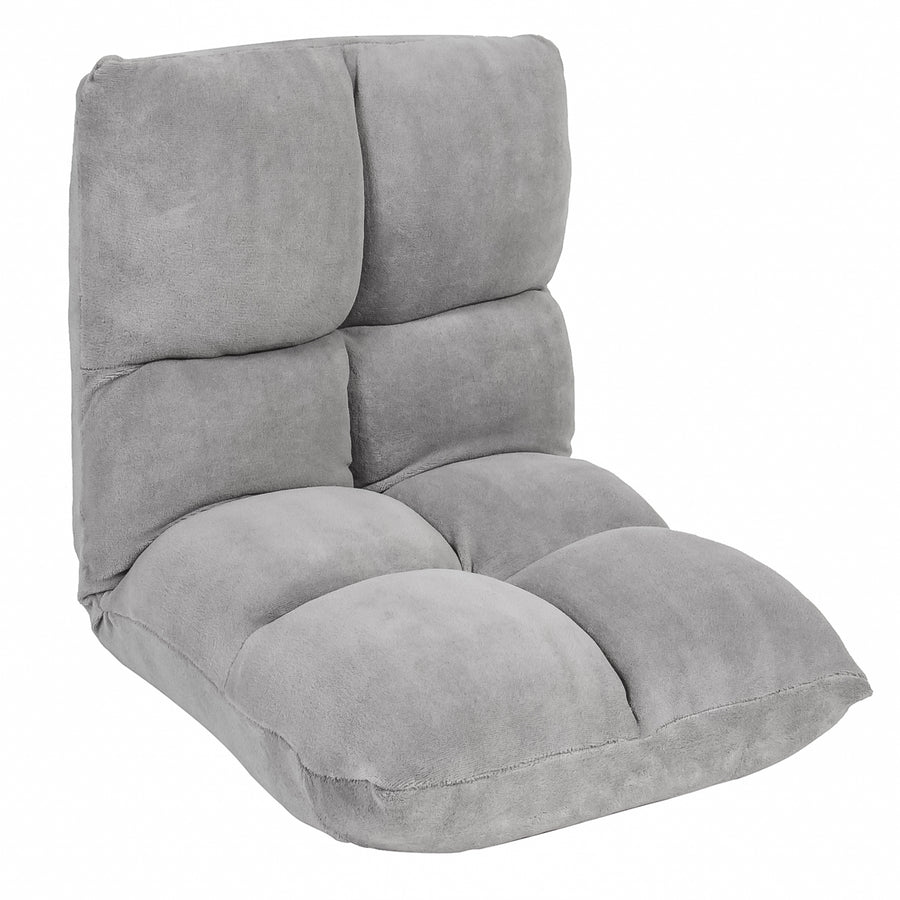Adjustable Memory Split Foam Gaming Floor Chair   Gray