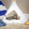 24in Pet Teepee w/ Cushion - White
