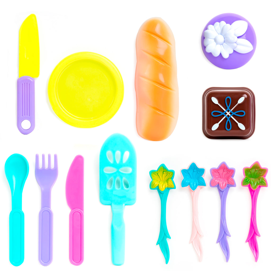 37-Piece Kids Pretend Kitchen Tea Party Play Set