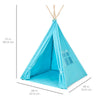 6 FT Kids Teepee Tent Playhouse (Blue)