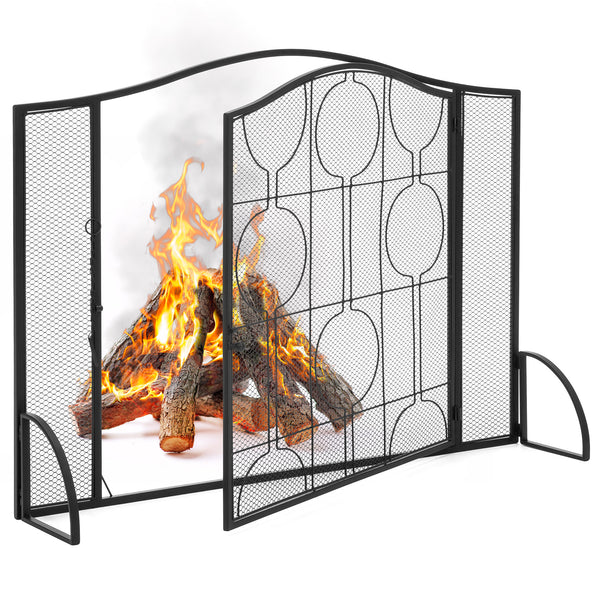 Steel Fireplace Frame Mesh