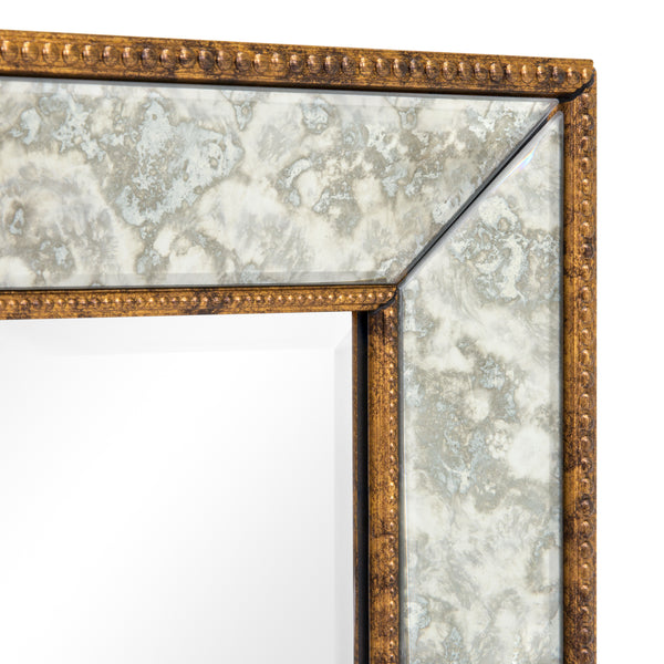"36"" Rectangular Decorative Wall Mirror - Brown"