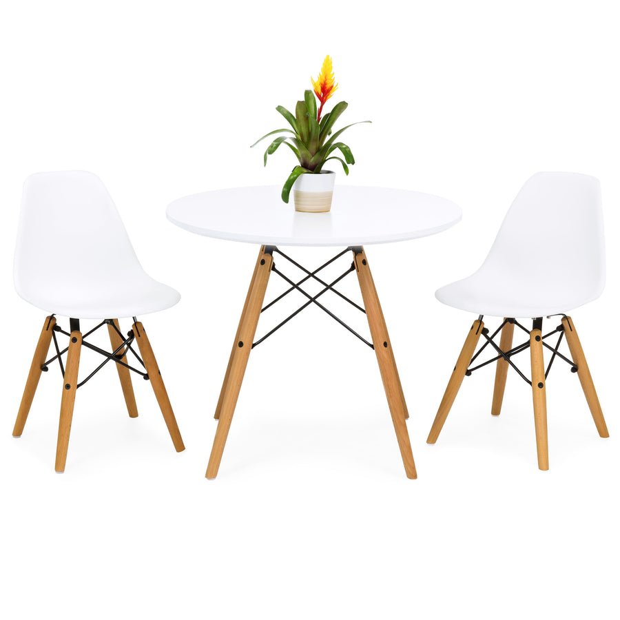 Kids Eames Style Dining Table Set w/ 2 Armless Chairs - White  sc 1 st  Best Choice Products & Kids Eames Style Dining Table Set w/ 2 Armless Chairs - White u2013 Best ...