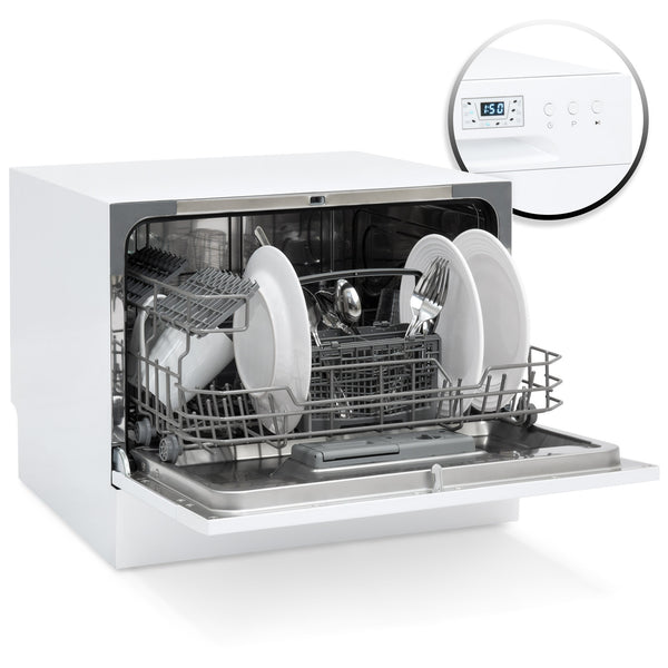Stainless Steel Kitchen Dishwasher w/ 6 Place Setting Compact Design