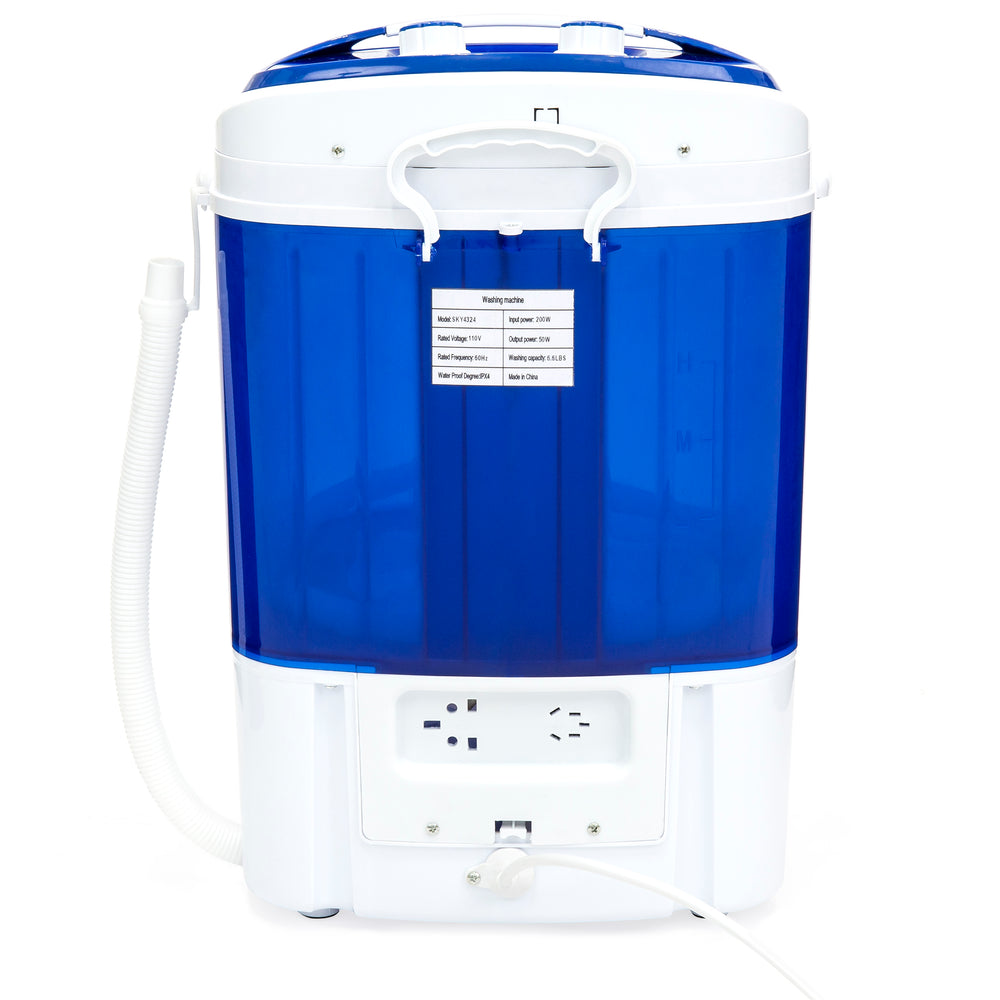 Portable Compact Washing Machine w/ Hose - Blue