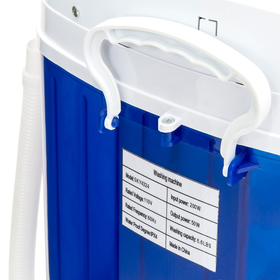 Portable Compact Washing Machine w/ Hose - Blue – Best Choice Products
