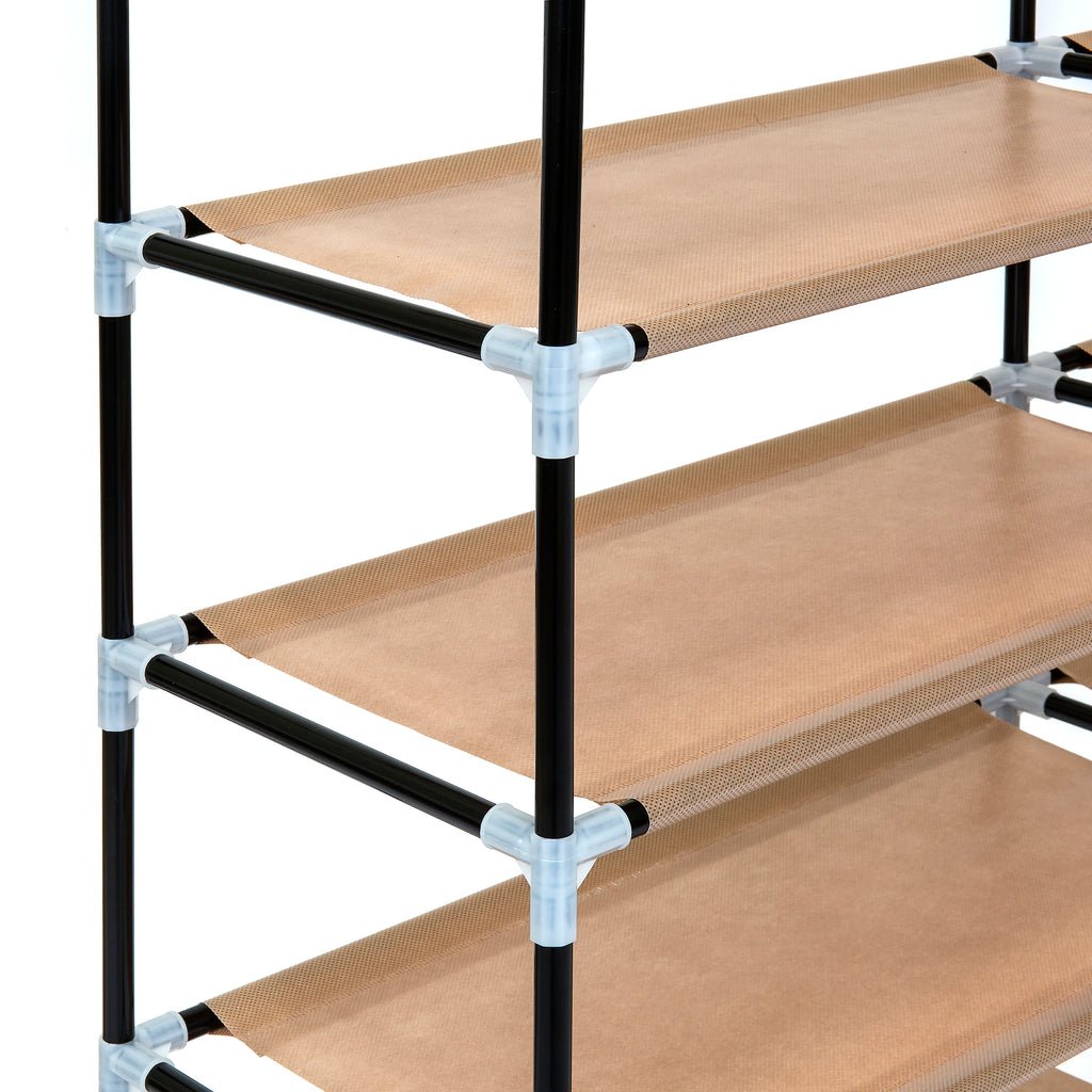 6-Tier Portable Shoe Rack Closet w/ Fabric Cover