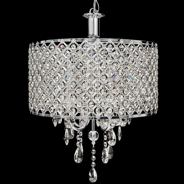 4 Pendant Dining Room Light Crystal Drop Modern Chandelier