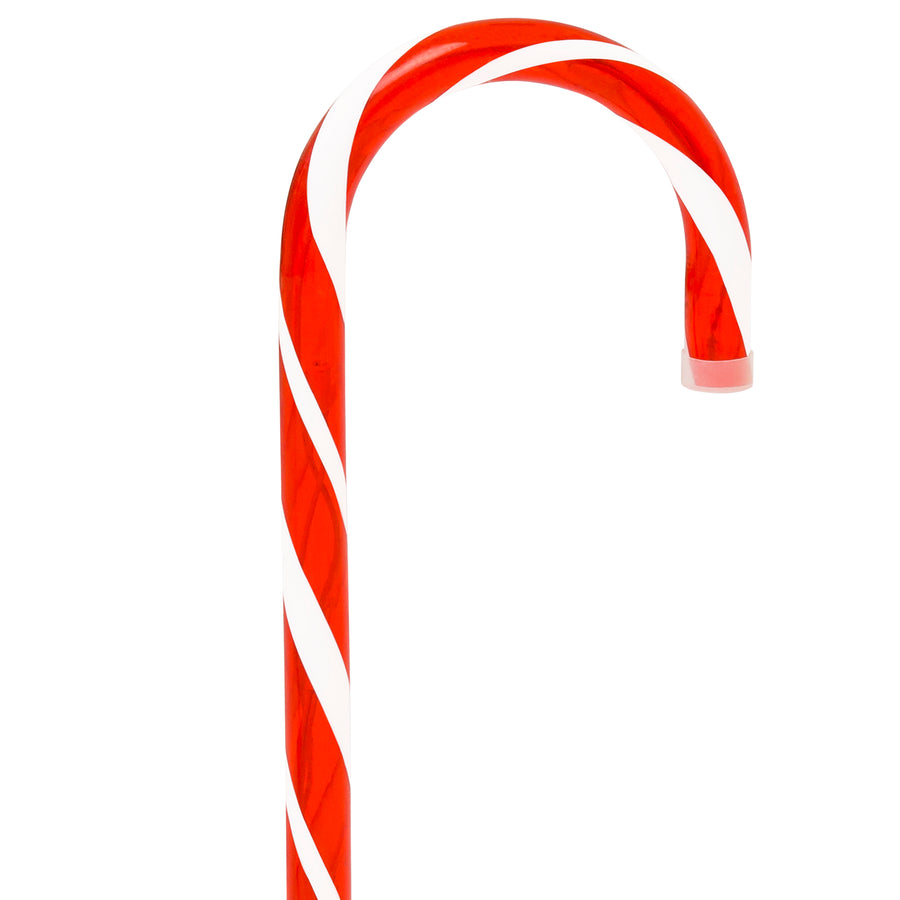 Set of 10 Christmas Candy Cane Pathway Marker Lights