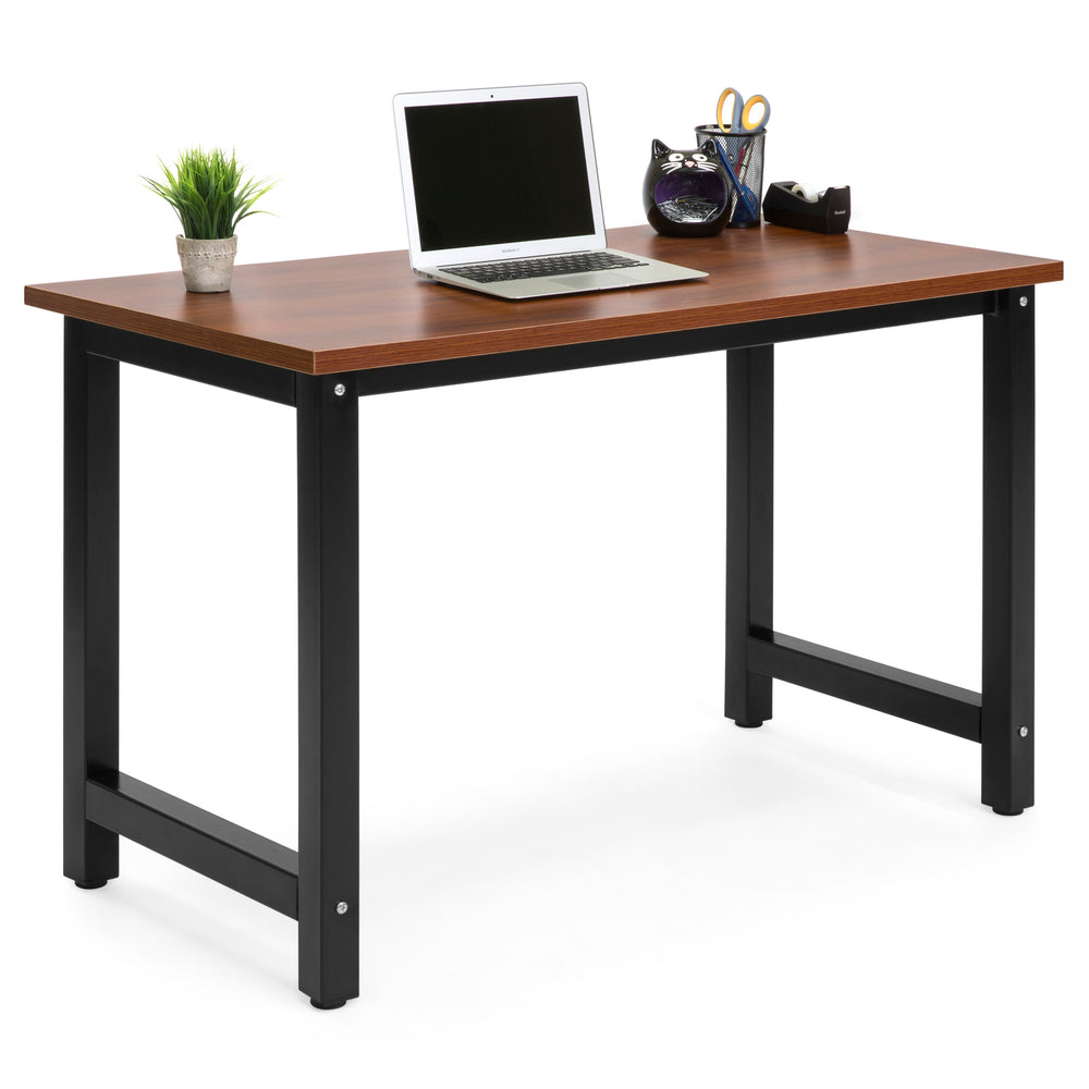Modern Home Office Computer Desk Table   Brown/Black