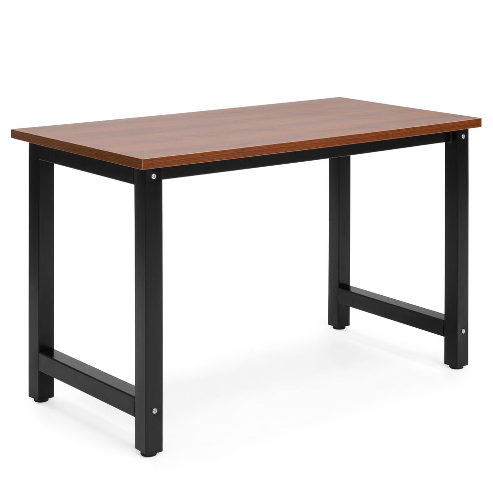 Modern Home Office Computer Desk Table - Brown/Black – Best Choice ...