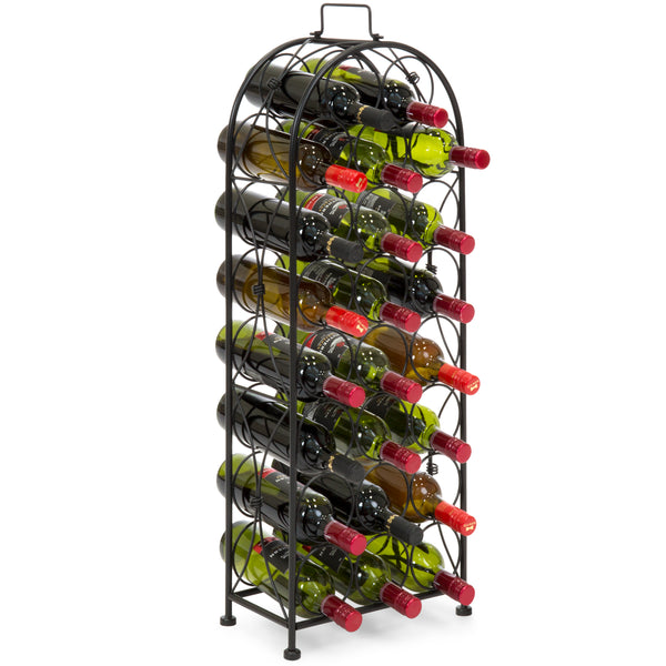 23-Bottle Metal Wine Rack Stand - Black