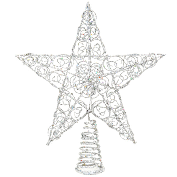 10-Inch Silver Star Treetop