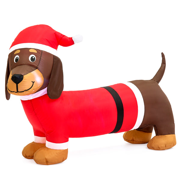 Inflatable Christmas Wiener Dog Decor
