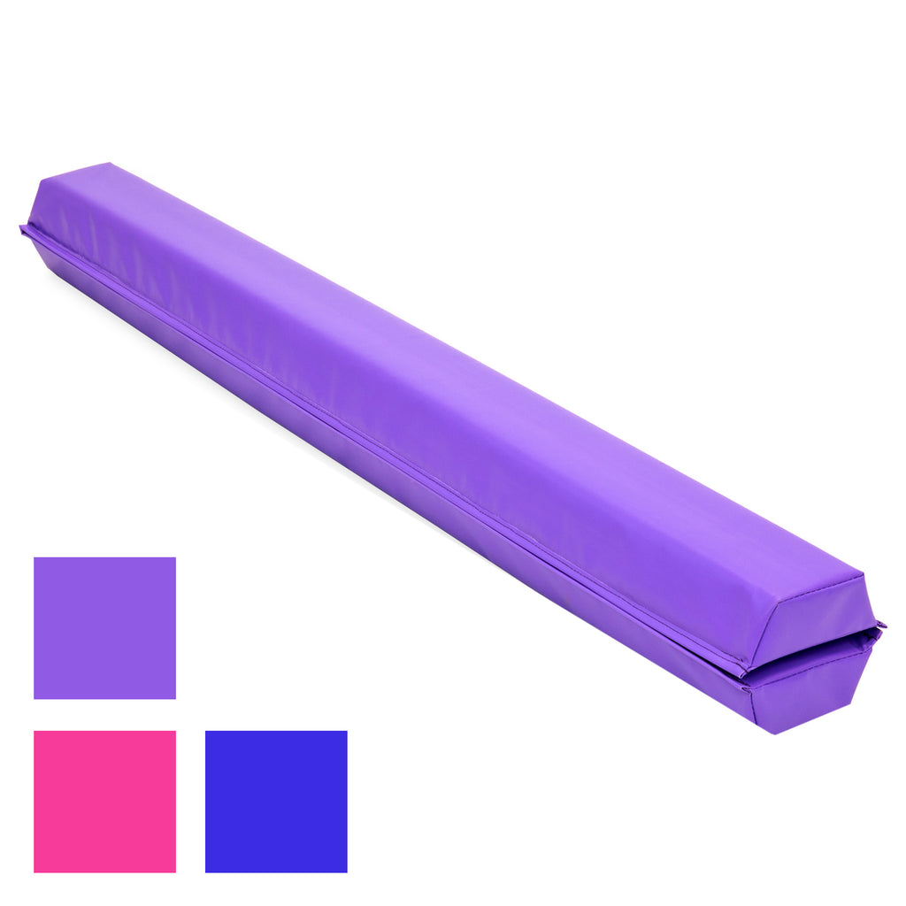 9ft Full Size Folding Floor Balance Beam for Gymnastics and Tumbling