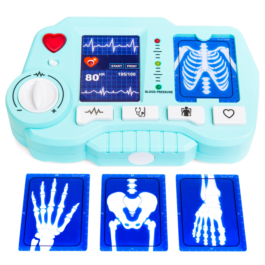 21-Piece Pretend Play Role Play Doctor Toy Set w/ X-Ray Machine, Stethoscope