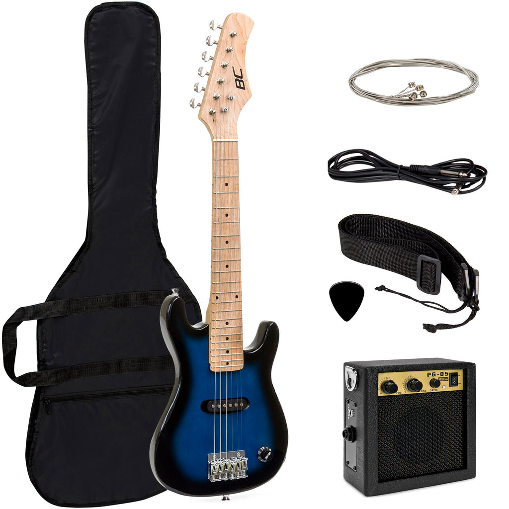 30in Kids Electric Guitar Instrument Starter Kit w/ 5W Amp, Strap, Case