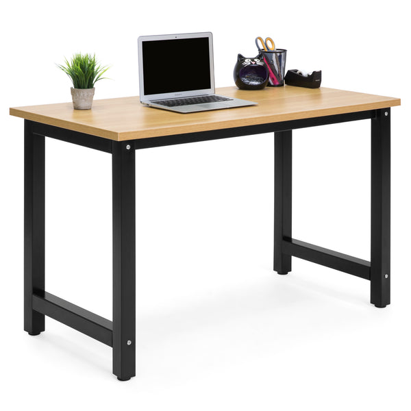 Modern Home Office Computer Desk - Light Brown