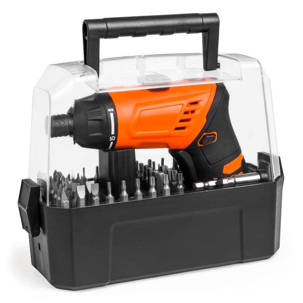 3.6V Electric Screwdriver w/ 50 Bits and Carry Case - Orange