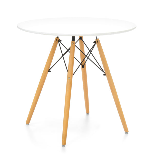 Round Dining Coffee Table - White