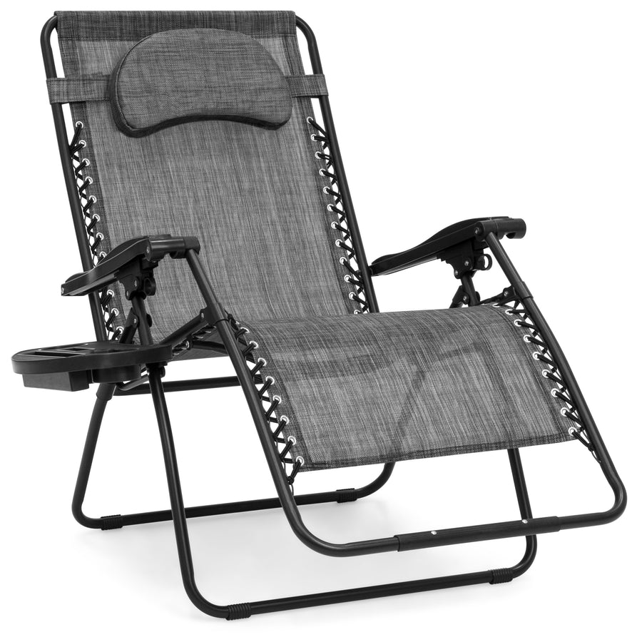 Oversized Zero Gravity Chair w/ Cup Holder