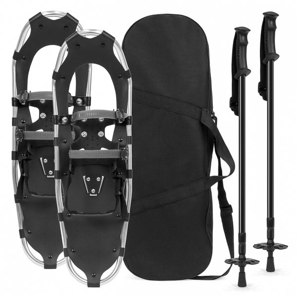 21in Snowshoe Set w/ Poles and Carrying Bag - Silver