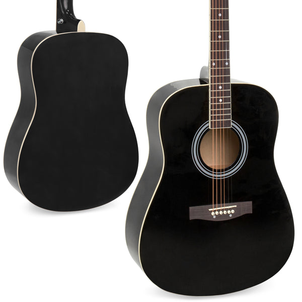 41in Acoustic Guitar Starter Kit w/ Case, Pick, Strap, Extra Strings