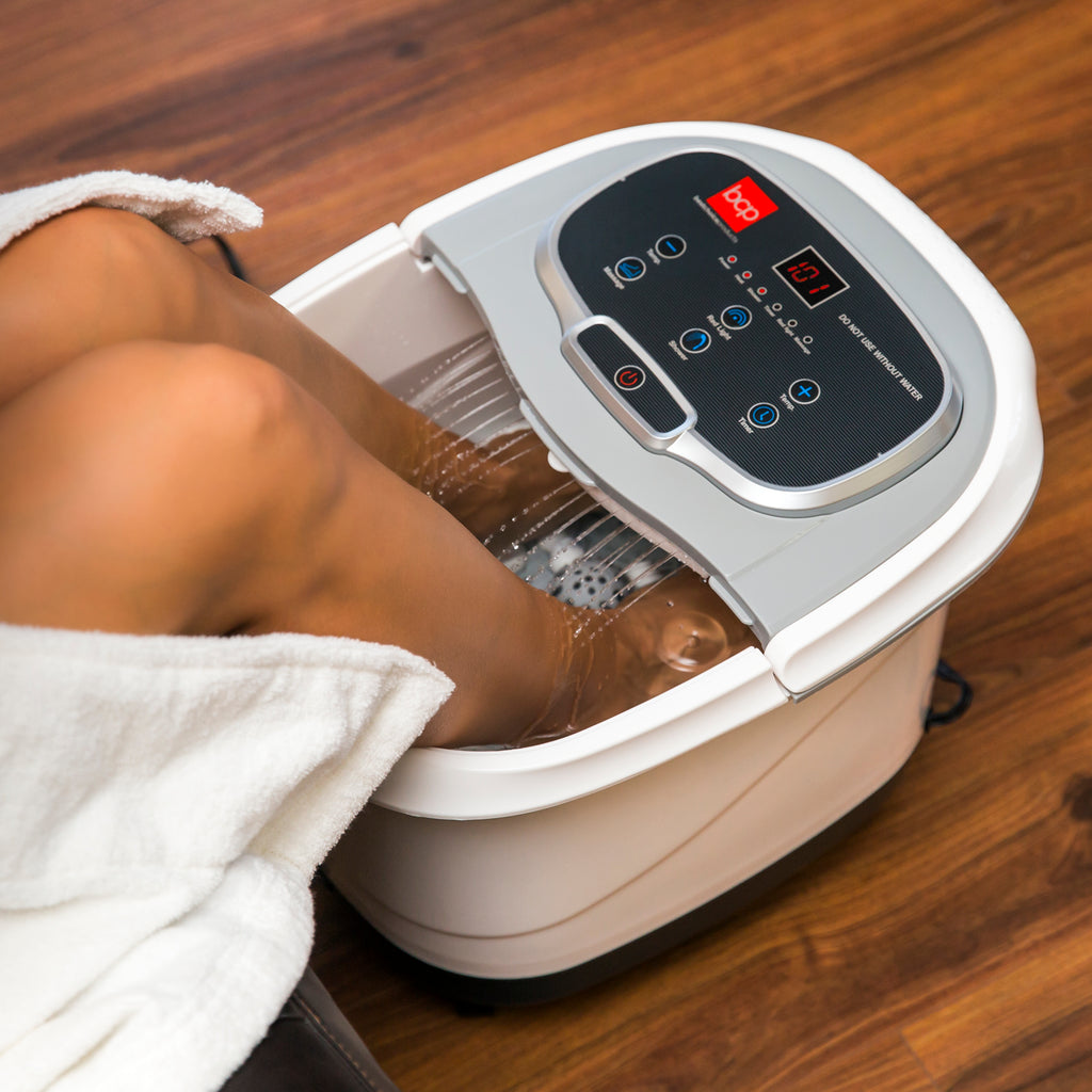 Portable Heated Foot Bath Spa w/ Massage Rollers, Red Light Therapy