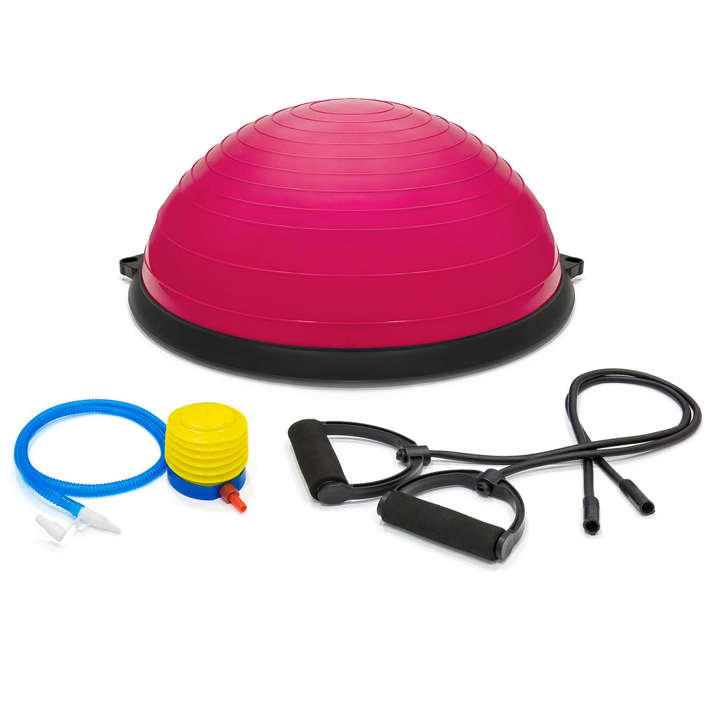 Yoga Balance Trainer Exercise Workout Ball w/ Pump, 2 Resistance Bands