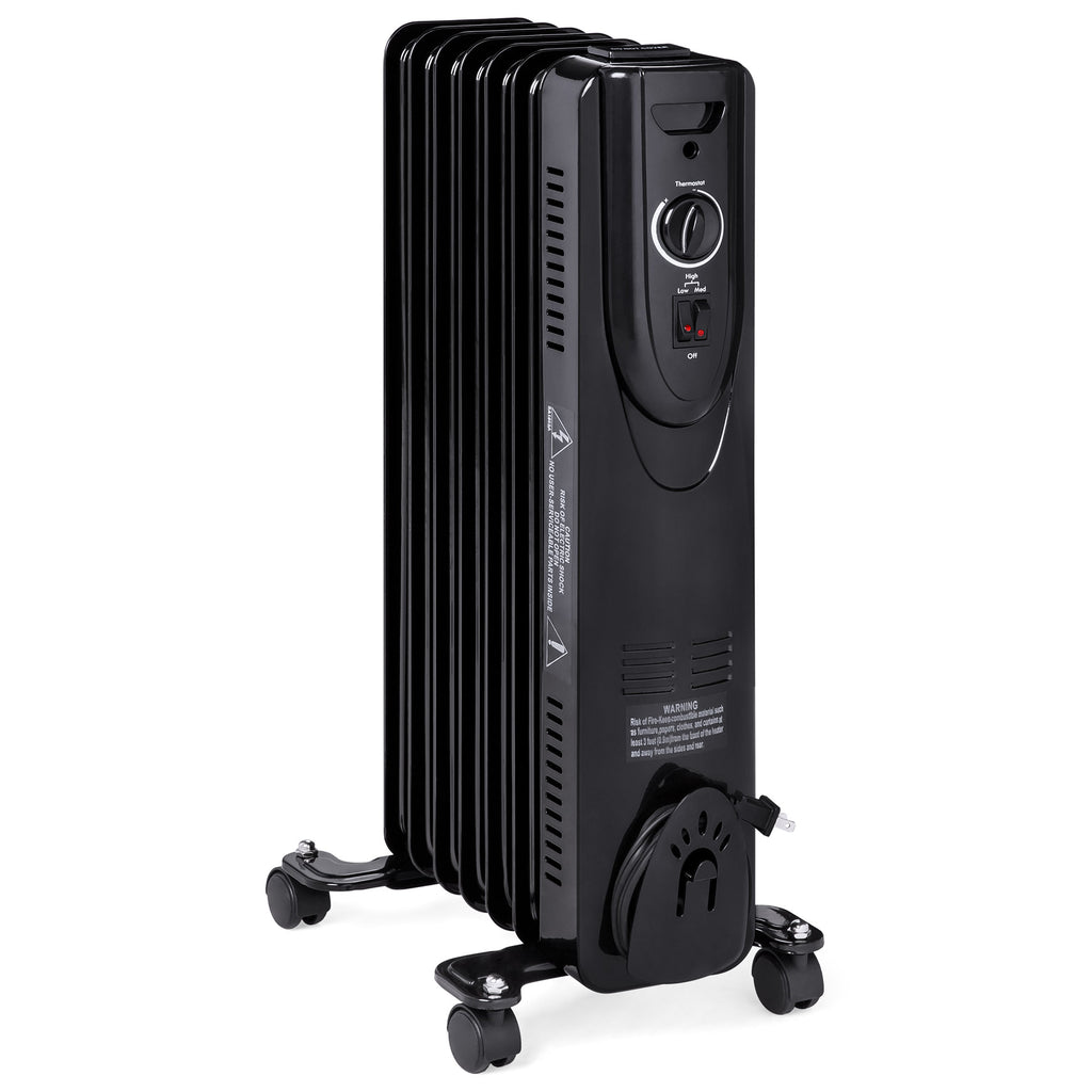 1500W Energy-Efficient Radiator Heater w/ Safety Shut-Off