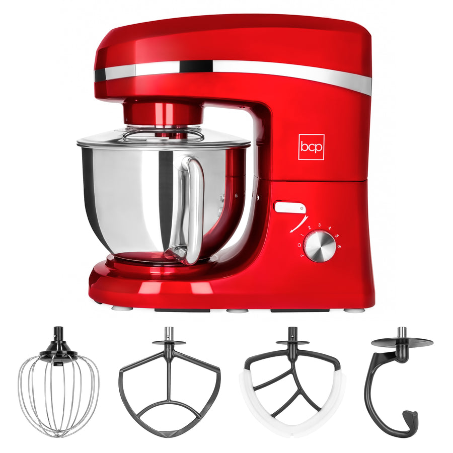 650W 6-Speed 5.3Qt Food Stand Mixer w/ Stainless Steel Bowl