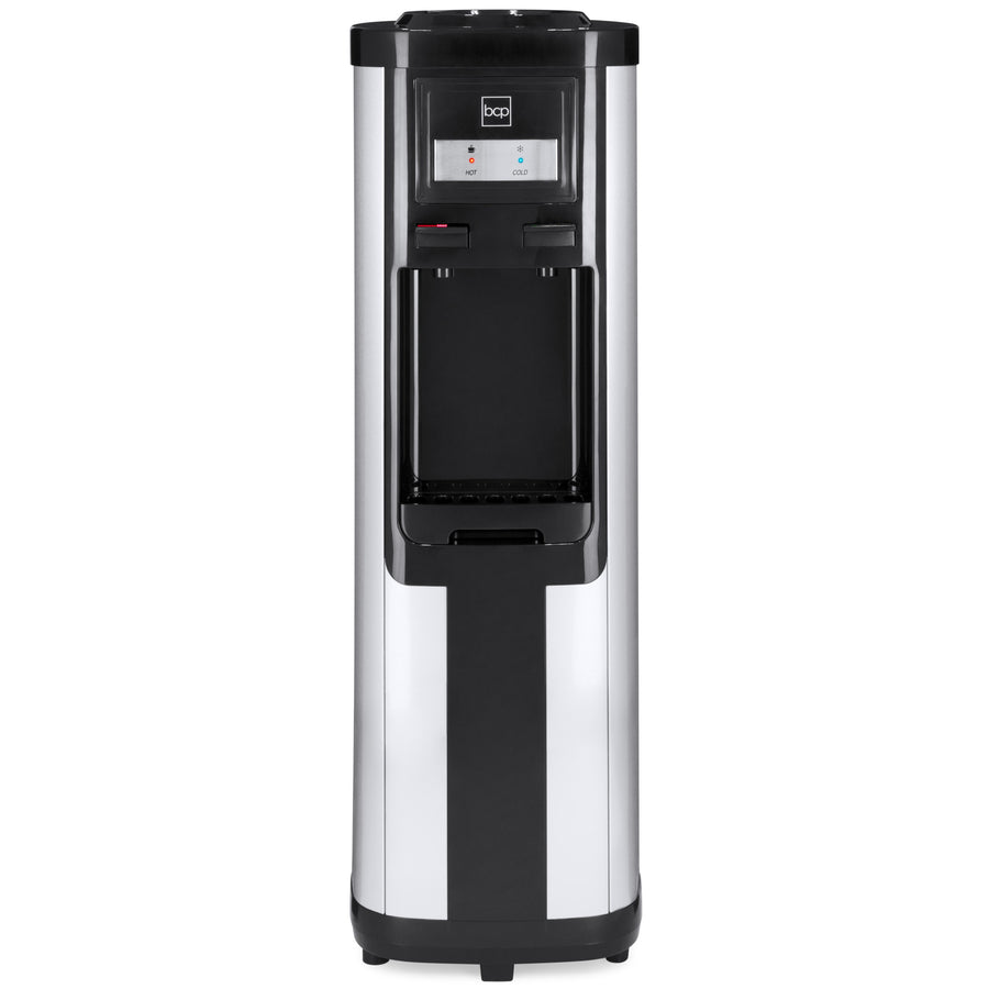 5-Gallon Hot and Cold Water Dispenser - Silver/Black