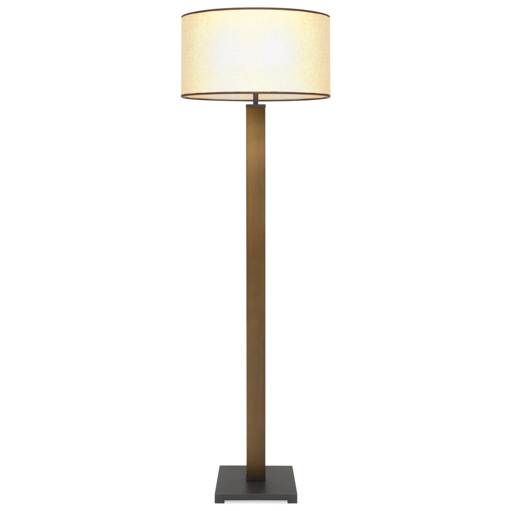 Column Floor Lamp w/ Square Base - Bronze