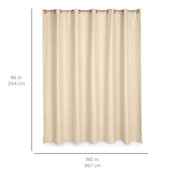 15x8ft Multi-Purpose Privacy Curtain w/ Grommet Rings - Beige