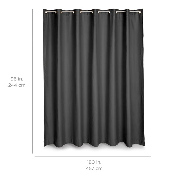 15x8ft Multi-Purpose Privacy Curtain w/ Grommet Rings