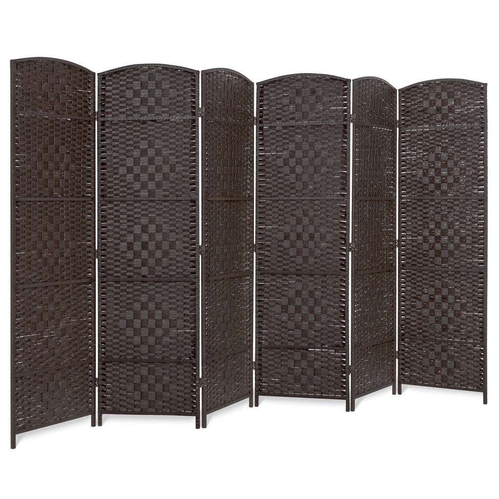6ft Tall 6-Panel Diamond Weave Folding Room Divider Privacy Screen
