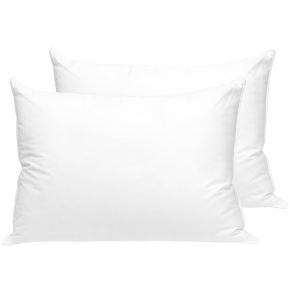 2-Pack 100% Cotton Hypoallergenic Queen Bed Pillows
