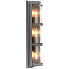 3-Light Industrial Wall Sconce