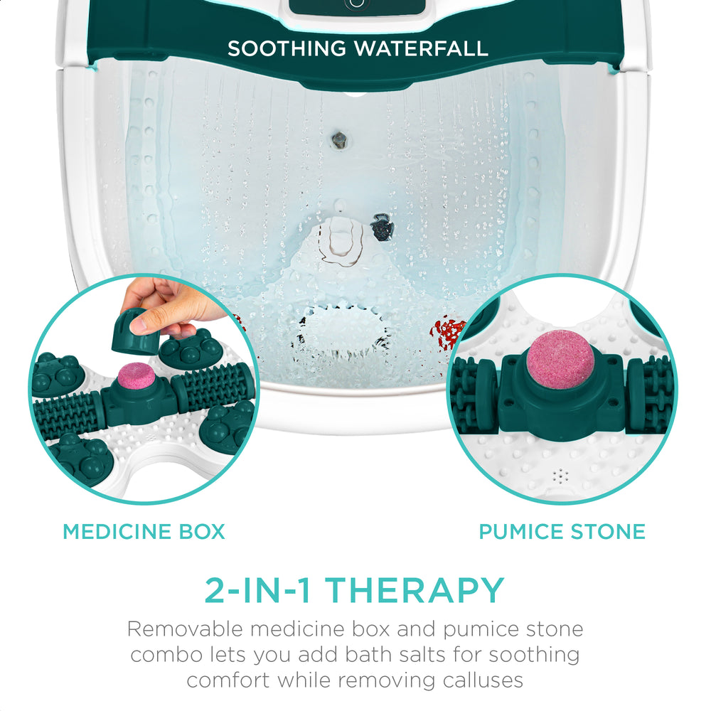 Portable Heated Shiatsu Foot Bath Massage Spa w/ Pumice Stone