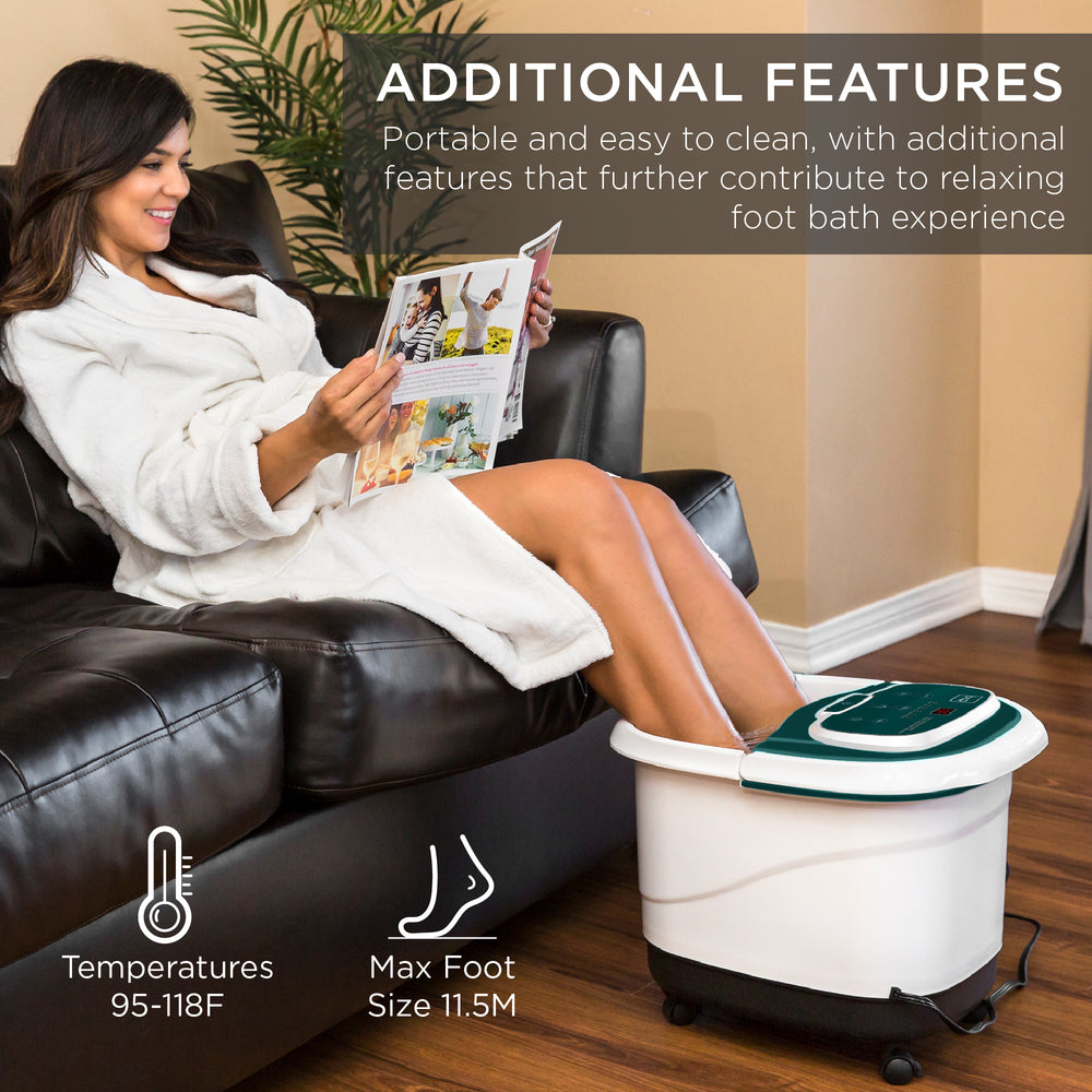 Automatic Heated Shiatsu Massage Foot Bath Spa w/ Pumice Stone