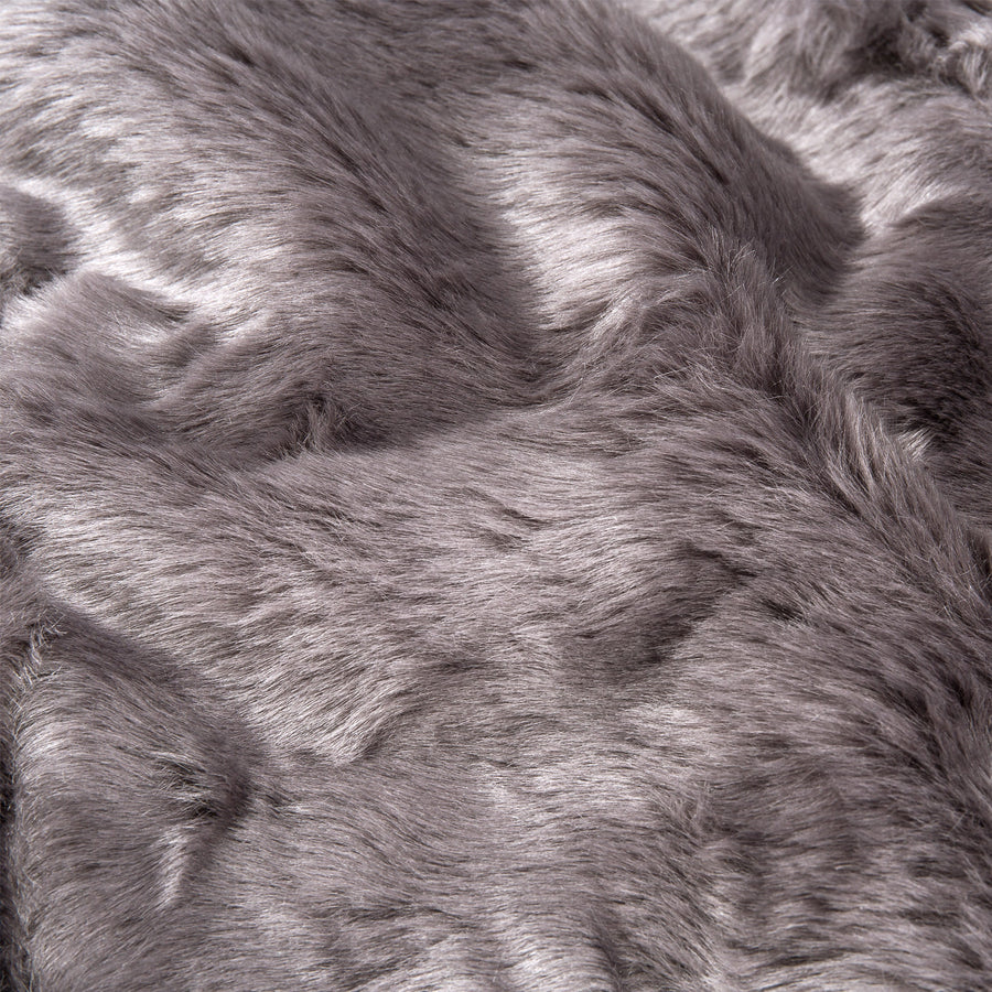 47x60in Soft Warm Faux Fur Throw Lounge Blanket