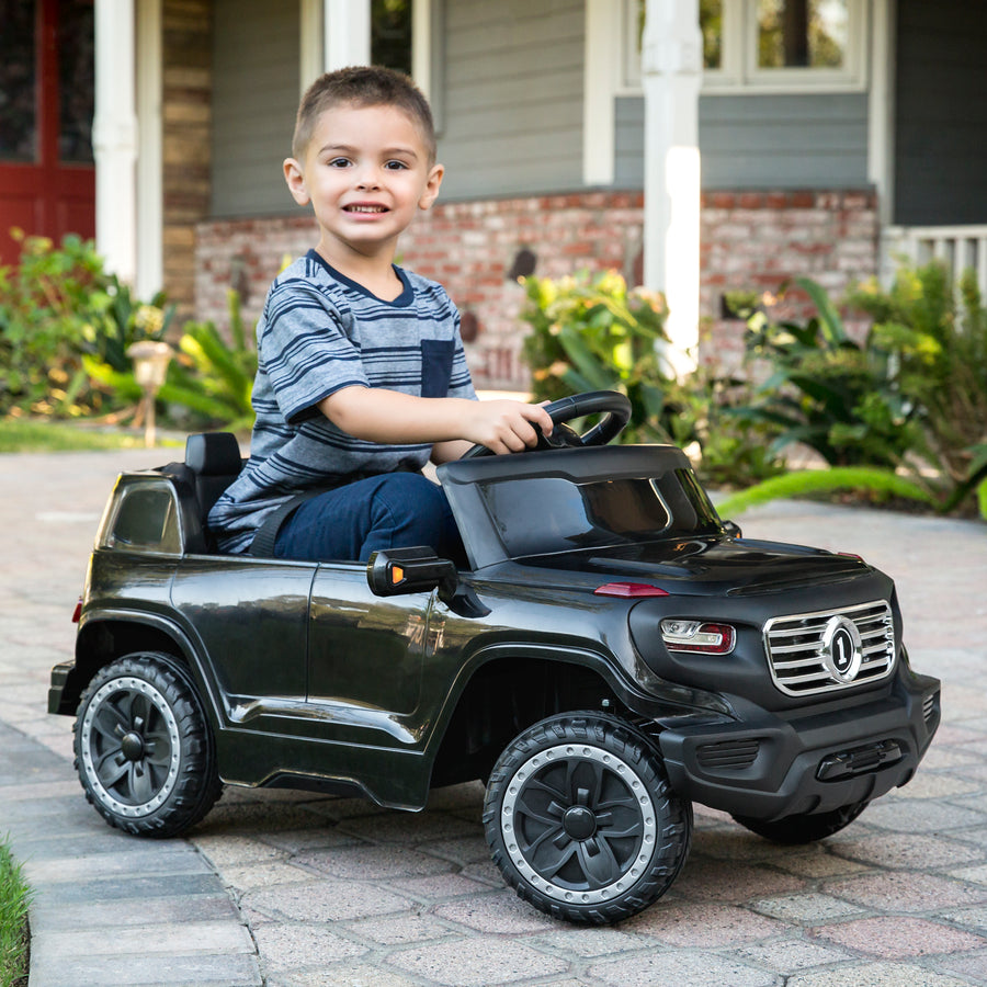 6V Ride On Car Truck w/ Parent Control - Black