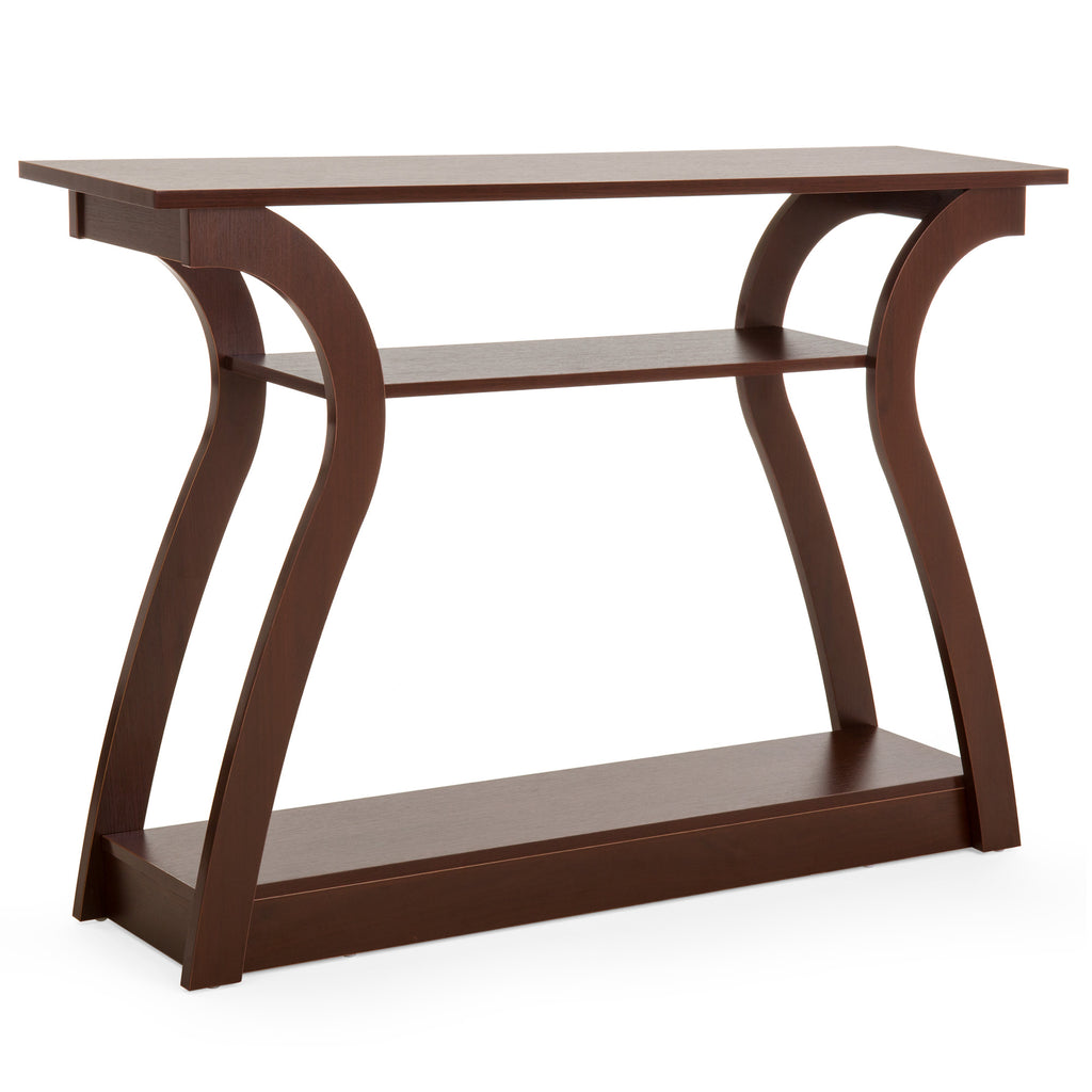 47in 3-Shelf Entryway Display Console Accent Table