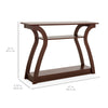 47in 3-Shelf Entryway Console Accent Table - Brown