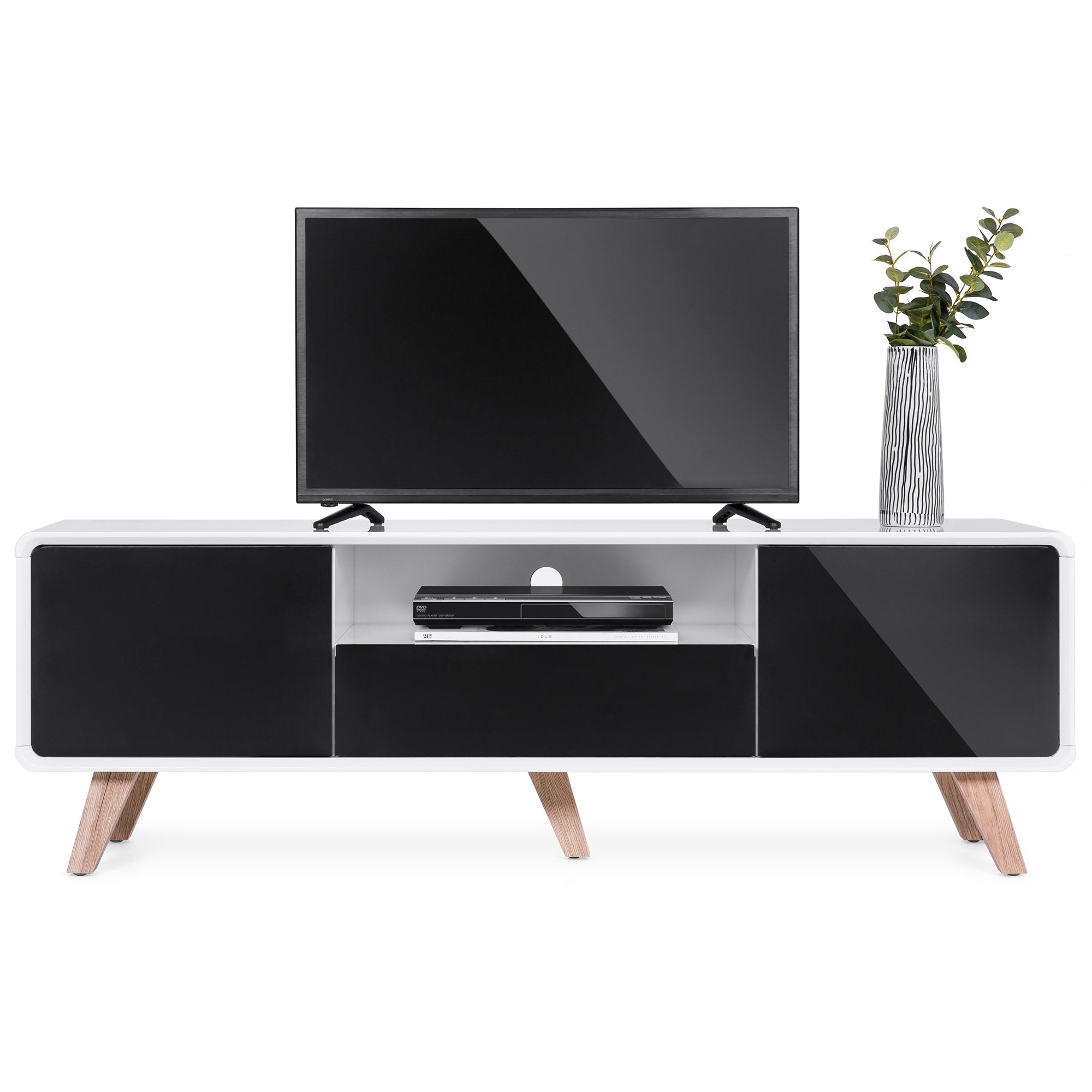 release date: da8e4 ccf2d 59in Mid-Century Modern TV Stand Media Console for Up to 65-Inch Screens