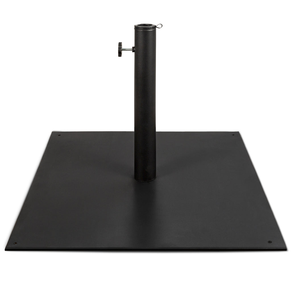 Steel Umbrella Base, Patio Stand w/ Tightening Knob & Anchor Holes - 38.5lb